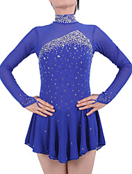 Robe de Patinage Femme Fille Manches Longues Patinage Jupes & Robes Robes Robe de patinage artistique Spandex Elasthanne Tenue de Patinage