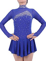 Ice Skating Dress Women's Girls' Long Sleeves Skating Skirts & Dresses Dresses Figure Skating Dress Spandex Elastane Skating Wear Athletic