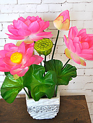 1  Lotus Flower Simulation Tray  Lotus  Landscape  Decoration