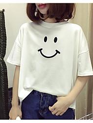 Damen Buchstabe Niedlich T-shirt,Rundhalsausschnitt Sommer Kurzarm Baumwolle