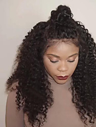 8''-26''Glueless Lace Front Human Hair Wigs for African Americans Brazilian Deep Wave Lace Front Wigs with Baby Hair 100% Virgin Hair Natural Hairline