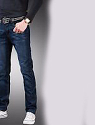 Men's Low Rise strenchy Jeans Pants,Boho Straight Solid