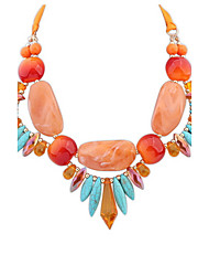 Euramerican Fashion Luxury Personalized Bohemia Exaggerated Joker Acrylic Multicolor Lady Casual Beach Necklace Statement Jewelry