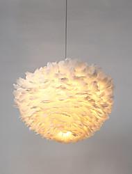 Five Heads Post Modern Industrial Loft Amercian Style Feather Pendant Lamp for the Corridor / Indoor / Hotel Decorate Drop Lighting Fixture