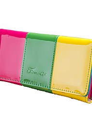 Women Wallet PU Polyester All Seasons Formal Casual Outdoor Office & Career Shopping Baguette Metallic MagneticBlushing Pink Green Sky