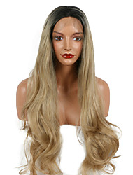 Nature Look Blonde Synthetic Lace Front Women Wig Glueless Body Wave Blond Ombre Heat Resistant Fiber For Women Wig