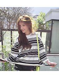 Mujer Casual Casual Primavera T-Shirt Pantalón Trajes,Escote Redondo A Rayas