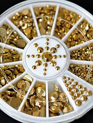 Golden Rivets Aluminum Hot Stamping Angular Rivets 3D Nail Decorations