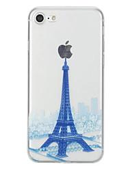 Назначение Чехлы панели С узором Задняя крышка Кейс для Эйфелева башня Мягкий Термопластик для AppleiPhone 7 Plus iPhone 7 iPhone 6s Plus