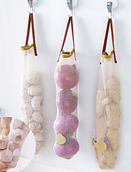 Can be Hanging Fruit and Vegetable Storage Net Bag Portable Handle Kitchen Multi-functional Hollow Breathable Garlic Onion Bag