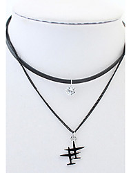 European and American fashion double-decker aircraft necklace