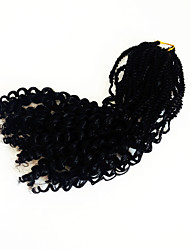 Black Soft senegal with curly end kanekalon fauxlocs hair extension synthetic braiding hair