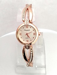 Women's Ladies' Wrist watch Bracelet Watch Quartz Rose Gold Plated Alloy Band Sparkle Cool Rose Gold