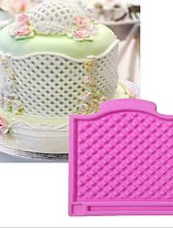 que adorna la herramienta Encaje Flor para la torta para la magdalena Silicona De Armar Cumpleaños Vacaciones día de San Valentín