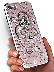 Pour Apple iphone 7 plus 7 housse de recouvrement transparent modèle couverture arrière animal doux tpu