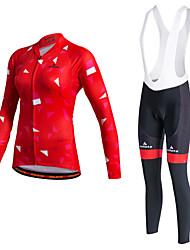 Miloto Maillot de Ciclismo Mujer Manga Larga Bicicleta Chaqueta Pulóveres Camisas Sudadera Chaquetas de Lana / Vellones Camiseta/Maillot