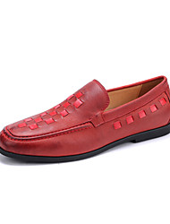 Men's Loafers & Slip-Ons Moccasin Full-grain Leather Spring Summer Fall Winter Casual Office & Career Party & Evening MoccasinBraided