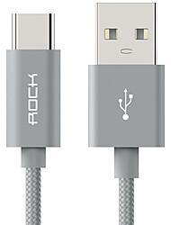 ROCK USB 2.0 Câble, USB 2.0 to USB 2.0 Type C Câble Male - Male 1.0m (3ft)