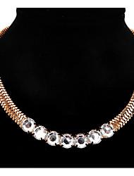 Pendant Necklaces Statement Necklaces Women's Euramerican Rock Rhinestone Daily Party  Rhinestone Alloy Movie Jewelry