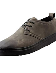 Men's Sneakers Classic & Timeless Fashion PU All Seasons Business Daily Going out Classic & Timeless Fashion Lace-up Flat HeelKhaki Gray
