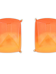 Euramerican Fashion Punk gradient Square Resin  Lady Business Stud Earrings Movie Jewelry