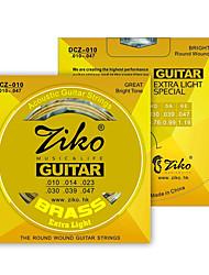 ZIKO DCZ010 Acoustic Guitar Strings  Wound Steel 6 Strings