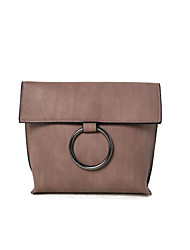 Women Shoulder Bag PU All Seasons Formal Casual Wedding Outdoor Office & Career Professioanl Use Saddle Magnetic Pinky Gray Black Green