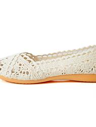 Women's Flats Comfort Light Soles Tulle Cross-Seasons Summer Casual Flat Heel Black Beige Gray Under 1in