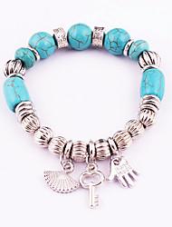 Women's Strand Bracelet Turquoise Friendship Gothic Fashion Bohemian Alloy Circle Hamsa Hand Jewelry 147Wedding Halloween Anniversary