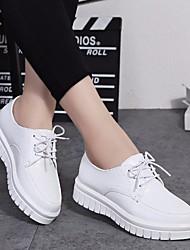Women's Flats Comfort PU Spring Casual Comfort Black White Flat