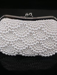 Women Evening Bag PC Spring/Fall All Seasons Round Bead Kiss Lock White