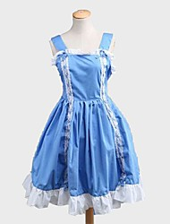 One-Piece/Dress Sweet Lolita Princess Cosplay Lolita Dress Solid Color Knee-length Dress For Padded Fabric