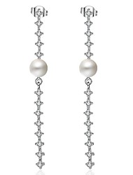 Women's Drop Earrings Imitation Pearl Imitation Pearl Pearl Platinum Plated Line Jewelry 147 Party/Evening Dailywear Gift