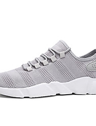 Men's Sneakers Light Soles Fabric Spring Summer Casual Light Soles Gray Black White Flat