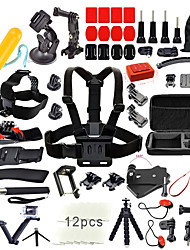 QQT for Gopro Accessories set for go pro hero 5 4 3 kit 3-way mount for SJCAM SJ4000 / xiaomi yi camera / eken h9 tripod