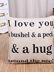 1 Pcs I Love You Letter Printing Pillow Cover Creative Cotton/Linen Pillow Case Sofa Cushion Cover