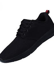 Hombre Zapatillas de deporte Confort Tul Verano Otoño Exterior Oficina y Trabajo Informal Tacón Plano Negro Azul Oscuro Gris Plano