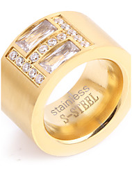 Women's Band Rings Vintage Punk Elegant Cubic Zirconia Titanium Steel Ring Jewelry For Wedding Anniversary Daily