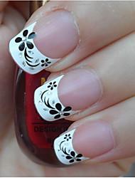 30 Стикер искусства ногтя Руководство Советы Французский 3D наклейки на ногти макияж Косметические Ногтевой дизайн