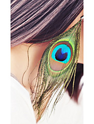 Drop Earrings Wings Feather Africa Bohemian Vintage Jewelry Peacock  Long Beach Travel