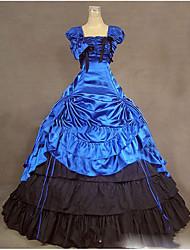 One-Piece/Dress Gothic Lolita Lolita Cosplay Lolita Dress Vintage Cap Sleeveless Floor-length Dress For Other