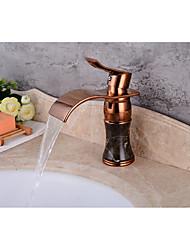 Set de centreSoupape céramiqueOr rose , Robinet lavabo
