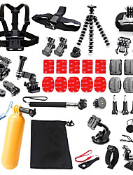QQT for GoPro accessories 25 in 1 Set Family Kit Go Pro SJ4000 SJ5000 SJ6000 accessories package for GoPro HD Hero 3 4 5 camera