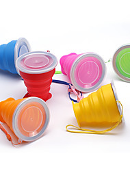 Silicone Folding Cup Daily Folding Cup Silicone Steel Band Portable Water Cup Creative Gift Cup