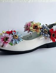 Fille-Mariage Habillé Soirée & Evénement-Blanc-Talon Plat-Nouveauté Flower Girl Chaussures Confort-Ballerines-Cuir Verni
