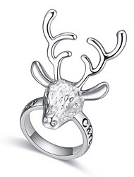 Euramerican Fashion Elegant  Silver Classic  Elk Rings Women's Daily Ring Jewelry Gifts