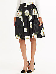 Women's Casual/Daily Above Knee Skirts A Line Print Fall Winter