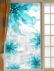 Floral/Botanique Autocollant de Fenêtre,PVC/Vinyl Matériel Décoration de fenêtre