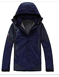 Hombre Chaquetas 3-en-1 Reflexivo Transpirable Ropa Interior/Prenda Interior para Deportes de Nieve Primavera Invierno Otoño S M L