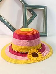 Women's Straw Sun Hat,Cute Casual Rainbow Spring Summer Fall